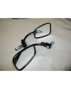 Pair of Black Bar End Mirrors