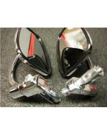 Pair of Chrome Bar End Mirrors